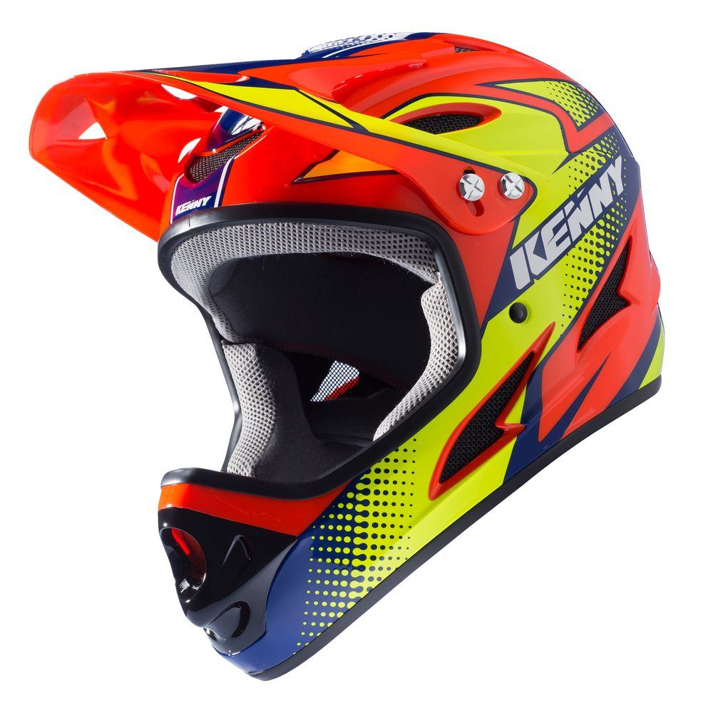 casque vtt kenny downhill orange fluo jaune fluo casque. Black Bedroom Furniture Sets. Home Design Ideas