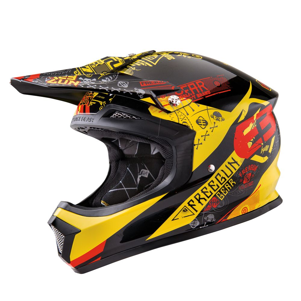 casque motocross freegun xp4 bandana jaune rouge 2016 anais discount. Black Bedroom Furniture Sets. Home Design Ideas