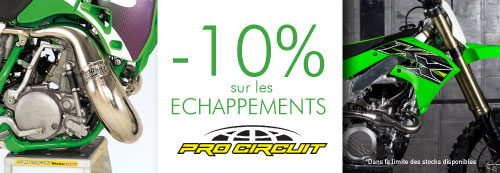 Echappement procircuit motocross
