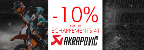 Echappement moto cross Akrapovic