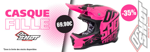Casque cross fille rose