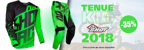 Tenue moto cross enfant shot